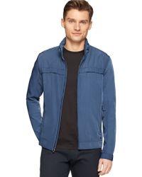 Calvin Klein Zip Up Lightweight Jacket blue - Lyst