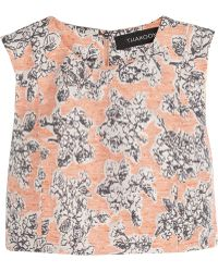 Thakoon Cropped Floral-jacquard Top - Lyst