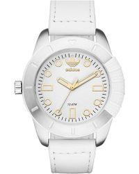 adidas Originals - 'adh-1969' Leather Strap Watch - Lyst
