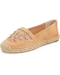 Vc Signature Cafi Embellished Suede Espadrille Flat - Lyst
