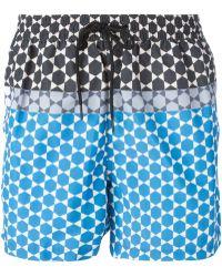 Paul Smith Geometric Print Swim Shorts - Lyst