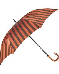 Barneys New York Orange Striped Umbrella - Lyst
