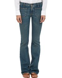 Saint Laurent Flared Jeans - Lyst