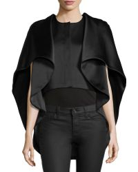 Zac Posen | Satin Layered Cape Jacket | Lyst