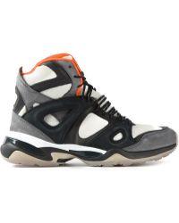 Alexander McQueen x Puma Geometric-Paneled Leather Sneakers - Lyst