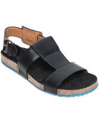 Marc Jacobs Strap Leather Sandals - Lyst