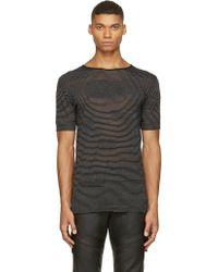 Costume National Black Alternating Knit T_Shirt - Lyst