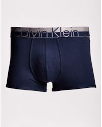 Calvin Klein | Magnetic Cotton Trunk Navy | Lyst