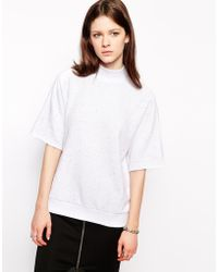 Cheap Monday High Neck Sweat Top - Lyst