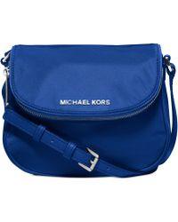 Michael Kors Michael Bedford Nylon Flap Crossbody - Lyst