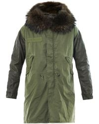 Mr & Mrs Italy - Fur Leather and Canvas Parka - Lyst