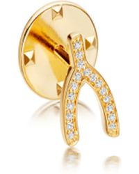 Astley Clarke - Gold-plated Wishbone Biography Pin - Lyst