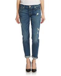 7 For All Mankind Josefina Boyfriend Jeans - Lyst