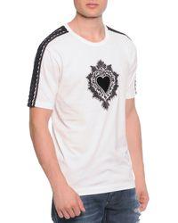 Dolce & Gabbana Passementerie Short-Sleeve Tee W/ Heart - Lyst