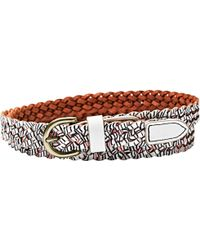 Fossil - Printed Braid Leather Belt - Lyst