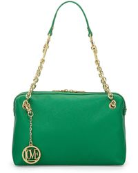 Love Moschino Saffiano Cowdetail Fauxleather Shoulder Bag - Lyst