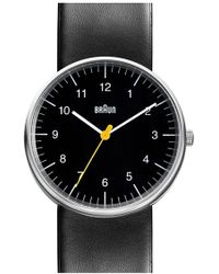 Braun - 'classic' Leather Strap Watch - Lyst