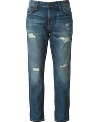 Current/Elliott 'Fling' Cropped Jeans - Lyst