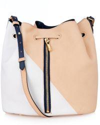 Elizabeth And James Cynnie Color-Block Leather Bucket Bag - Lyst