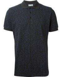 Dior Homme Handwriting-Print Polo Shirt - Lyst