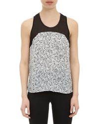 Barneys New York Ruby Print Sleeveless Top - Lyst