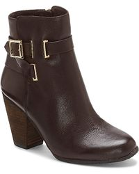 Vince Camuto Harriet - Leather Mid-Heel Ankle Boot - Lyst