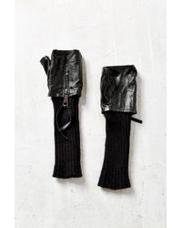 Urban Outfitters - Knit Leather Zip Armwarmer - Lyst
