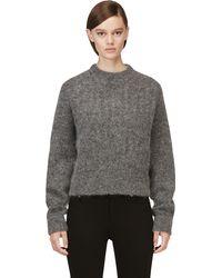Acne Studios Grey Mohair Dania Sweater - Lyst