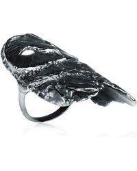 Dominique Lucas - Owl Ring Oxidised - Lyst