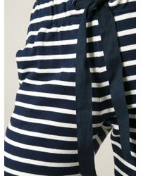 Petit Bateau - Striped Cotton Sweatpants - Lyst