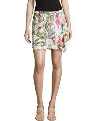 Haute Hippie Floral-print Chiffon Skirt - Lyst