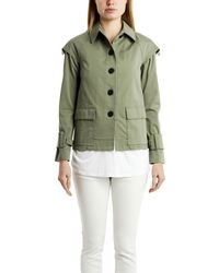 10 Crosby Derek Lam 10 Crosby Derek Lam Drop Shoulder Military Jacket green - Lyst