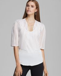 Milly Bolero Perforated Neoprene Cropped - Lyst