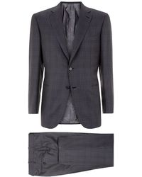 Brioni Cashmere And Silk Check Suit - Lyst