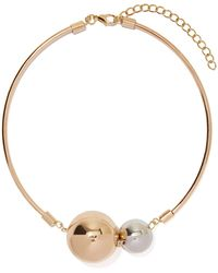 Nasty Gal Bust Your Balls Necklace - Lyst