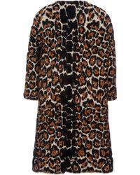 Sonia Rykiel Animal Leopard Coat - Lyst