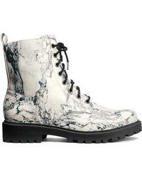 H&M Black Laceup Boots - Lyst