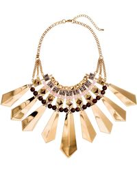 H&M Wide Necklace gold - Lyst