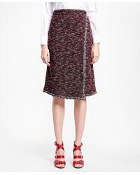 Brooks Brothers   Blanket-stitch Tweed Skirt   Lyst
