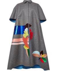 Delpozo Double Faced Wool Cape - Lyst