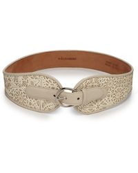 W. Kleinberg Laser-Cut Leather Belt - Lyst