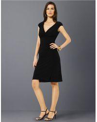 Lauren by Ralph Lauren Matte Jersey Empire Dress - Lyst