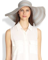 Helene Berman Floppy Straw Hat - Lyst