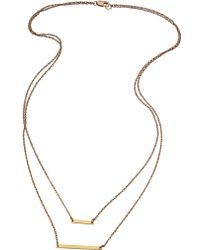 Joie - Jennifer Zeuner Cynthia Double Bar Necklace - Lyst