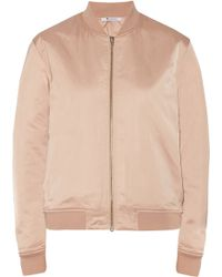 T By Alexander Wang Padded Satin Bomber Jacket - Lyst