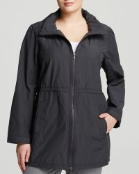 Eileen Fisher Plus High Collar Jacket - Lyst
