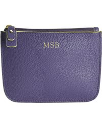 Graphic Image - Personalized Small Suedelined Leather Zip Case - Lyst