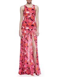 Diane von Furstenberg Davina Floral-Print Maxi Dress - Lyst