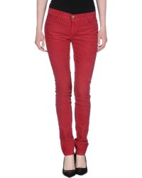 Current/Elliott Casual Trouser red - Lyst