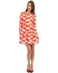 Au Jour Le Jour Lip Print Duchesse Dress - Lyst